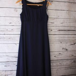 Madison Leigh Shift navy blue dress sz 8